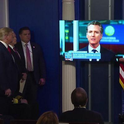 Osa Trumpin ja toimittajan välisestä sanaharkasta Reutersin videolla