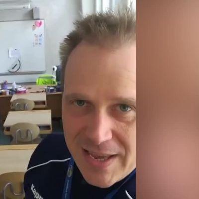 Tamperelainen opettaja kuittasi turvaväliongelmat huumorilla