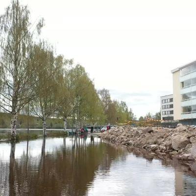 Rovaniemen tulvatilanne toukokuun viimeisenä päivänä 2020