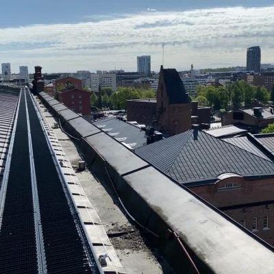 Finlaysonin kattokävely tarjoaa uuden näkökulman Tampereen keskustaan.