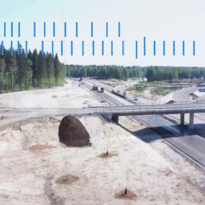 Tällä tiellä saa pian porhaltaa satasta Mikkelin kohdalla, mutta nyt valtatien rakennustyö voi hidastaa juhannusliikennettä
