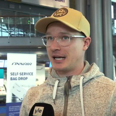 Helsinki-Vantaan lentoasemalta lähdettiin tänään hyvillä mielin Eurooppaan