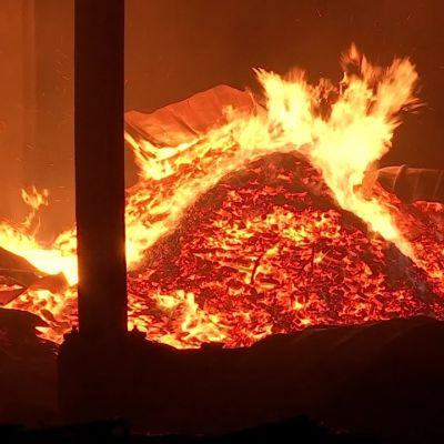 Enon höyläämö tuhoutui tulipalossa