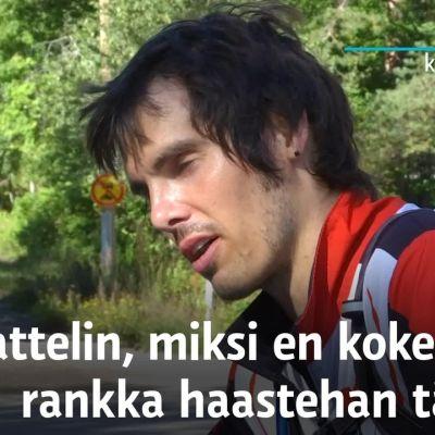 Mike Oppland suoritti rankan Everesting-haasteen Salpausselän rinteessä