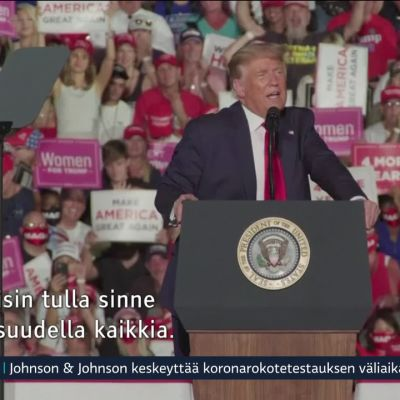 Trump palasi kampanjoimaan