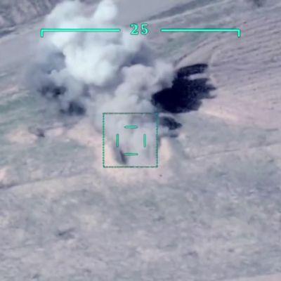 Azerbaidžanin lennokki-iskut tuhoisia armenialaisille