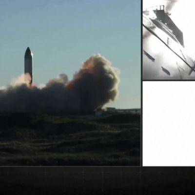 SpaceX-yhtiön raketti räjähti laskeutumisyrityksen aikana