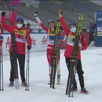 Suomi taipui kolmanneksi naisten viestissä