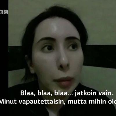 BBC esittää kadonneen Dubain prinsessan itse kuvaamat videot vankeudesta
