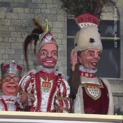 Korona vaiensi karnevaalit niin Kölnissä kuin Riossa