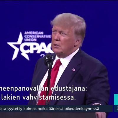 Trump vilhjaili pyrkivänsä vielä presidentiksi