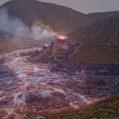 Islannissa liian uteliaita häädetään pois purkautuvan tulivuoren läheltä