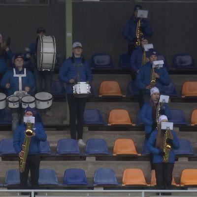 Rauman torvisoittokunta valmistautui SM-liigan finaaleihin