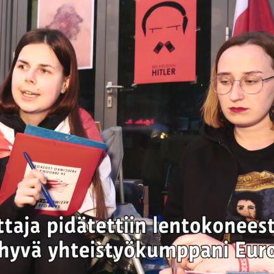 Kaksi valkovenäläistä aloitti syömälakon Varsovassa
