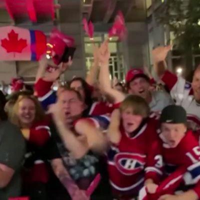 Montreal Canadiensin fanit villiintyivät kotijoukkueen voitosta