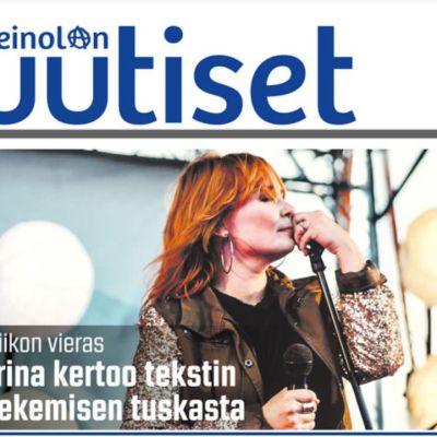 Osa Heinolan uutiset -lehden etusivua.