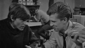 Tom Wentzel och Sven Sid i filmen förlovningsfesten 1968