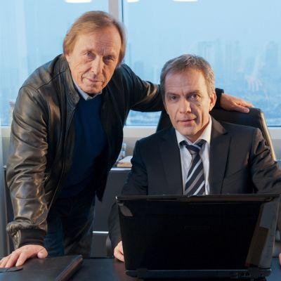 Kahden keikka -sarjan näyttelijät Claus Theo Gärtner ja Paul Frielinghaus.