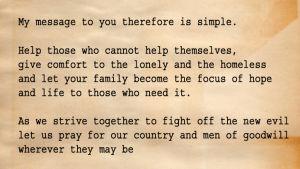 Ett stycke från drottning Elisabeths tal