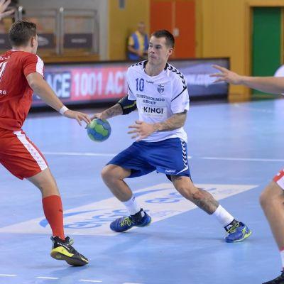 Nico Rönnerg var Finlands bästa målskytt mot Luxemburg.