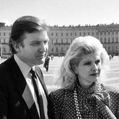 Donald Trump Eremitaasin edustalla