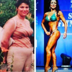 Roya Chatran före och efter sin tuffa träning