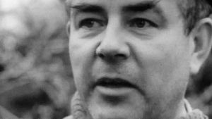 Paul Budsko i rollen som Gustav Ström i dokumentärspelet skrivet av Claes Andersson.