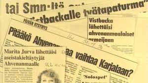 Lehtileikkeitä, jotka käsittelevät keskustelua Ahvenanmaan ympärillä