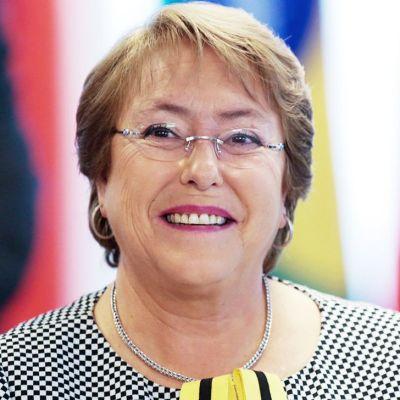 Chilen presidentii Michelle Bachelet.