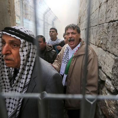 Protester I Hebron på Västbanken