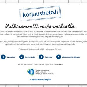 ympäristöministeriön nettisivun avaus
