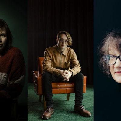 Karin Erlandsson, Axel Åhman och Monika Fagerholm