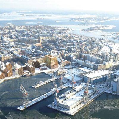 Skiss över Sandvikens varvsområde.