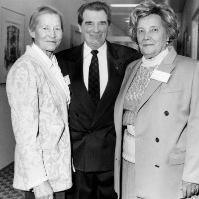 Siiri Rantanen, Eero Mäntyranta ja Lydia Wideman-Lehtonen.