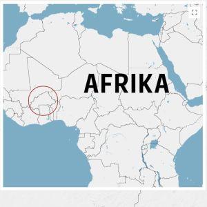 Staden Dablo i Burkina Faso utprickad på en karta.