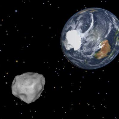 NASA visar hur asteroiden såg ut i rymden