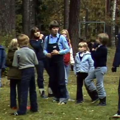 En grupp med barn