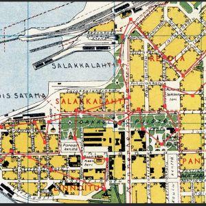 Viipurin keskustan kartta vuodelta 1935.