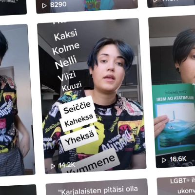 Kuvakaappaus Maura Häkin Tiktok-videoista.