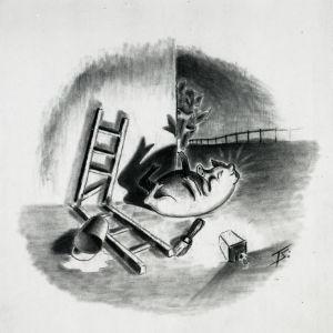 Eläinten vallankumous romaanin kuvitusta