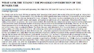Dokument rörande Titanicolyckan.