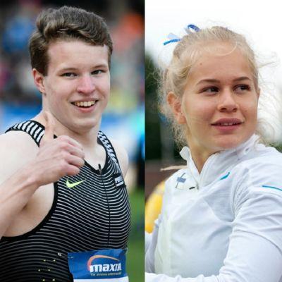 Viivi Lehikoinen, Samuel Purola och Saga Andersson.