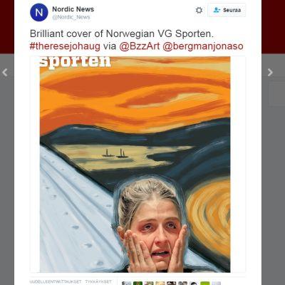 Kuvakaappaus Nordic Newsin twiitistä.