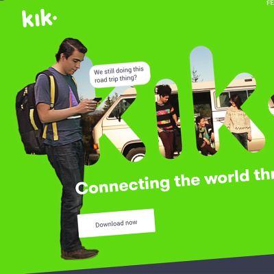 Kik-palvelun nettisivu