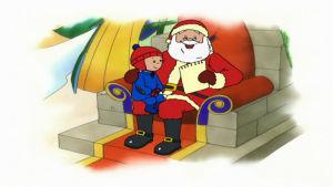 Kaapo tapaa joulupukin