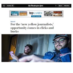 Kuvakaappaus The Washington Postin jutusta