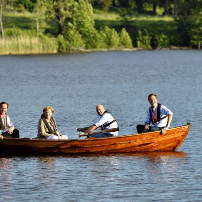 David Cameron, Angela Merkel, Fredrik Reinfeldt ja Mark Rutte.