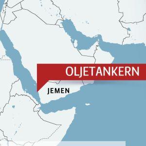 Karta över Röda havet och Jemen.