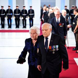 Veikko Punakallio, Krigsinvalidernas brödraförbund, och hans hustru Raili Punakallio