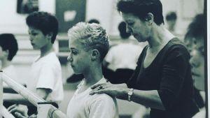 Fredrik Apollo Asplund som liten pojke i balettskolan.